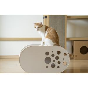 「White House」O型 / 猫用 キャットハウス ECOでおしゃれなデザインの日本製 ダンボール|nekodan