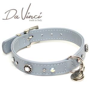 Da Vinci カラー Vittoria:グレー DV1.2.35G 小型用首輪・首周り実寸:約24〜30cm お洒落な イタリア製 かわいい ダ・ヴィンチ nekokin