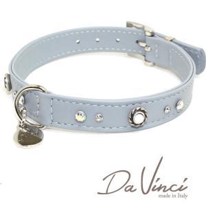 Da Vinci カラー Vittoria:グレー DV1.2.40G 中型犬用首輪・首周り実寸:約29〜35cm お洒落な イタリア製 かわいい ダ・ヴィンチ nekokin