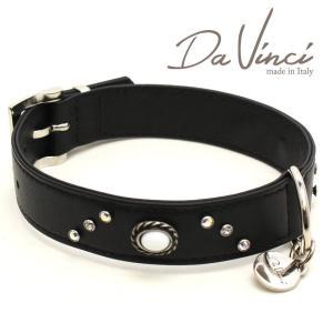 Da Vinci カラー Vittoria:黒 DV1.3.40B 中型犬用首輪・首周り実寸:約29〜35cm お洒落な イタリア製 かわいい ダ・ヴィンチ nekokin