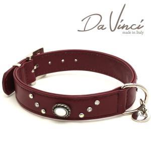 Da Vinci カラー Vittoria:ボルドー DV1.3.40BX 中型犬用首輪・首周り実寸:約29〜35cm お洒落な イタリア製 かわいい ダ・ヴィンチ nekokin