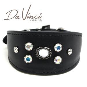 SALE/返品交換不可・Da Vinci カラー Vittoria:黒 DV1.7.30B 小型犬用首輪・首周り実寸:約21〜25cm イタリア製 dv91287 nekokin