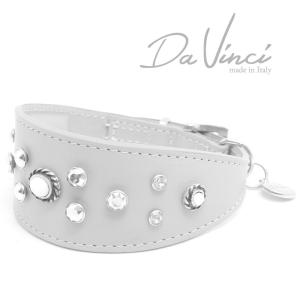 SALE/返品交換不可・Da Vinci カラー Vittoria:グレー DV1.7.35G 小型犬用首輪・首周り実寸:約25〜29cm イタリア製 dv91355 nekokin