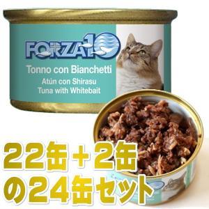 最短賞味2022.9・フォルツァ10 猫 メンテナンス マグロ&シラス 85g×24缶 ウェット キャットフード FORZA10正規品fo05661s24 nekokin