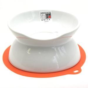 にゃんプレダブル・ホワイト 猫用食器・HARIO・日本製|nekokin
