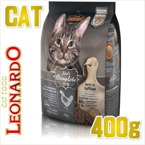 最短賞味2020.7・レオナルド アダルト 32.16 400gドライ 運動量の少なめな成猫用 低カロリー キャットフード LEONARDO 正規品 le58101|nekokin