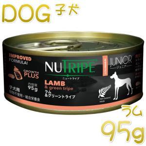 NEW 最短賞味2023.5・ニュートライプ ジュニア ラム&グリーントライプ 95gウェット子犬用 総合栄養食 正規品 nud13751 nekokin