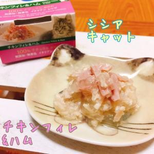 最短賞味2021.9・シシア 猫用 (チキンフィレ&ハム)85g缶 ウェット キャットフード Schesir 正規品 scc162|nekokin