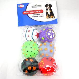 小さなボール6個入り。音が鳴ります。パピーボール 6P 犬用おもちゃ|nekokin