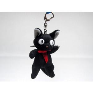 黒猫のジジ 立ち マスコットキーホルダー (魔女の宅急便・ジブリ) / 猫グッズ 猫雑貨 ハロウィン