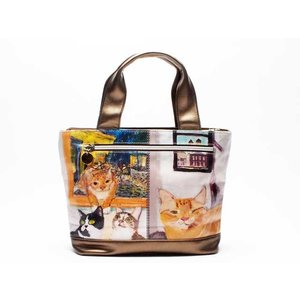 28b950664111 マンハッタナーズ [ manhattaner's ]サクサク2 トートバッグ S チェルシーの窓 (71-2000-BEG) 猫グッズ 猫雑貨 猫  ねこ ネコ バッグ