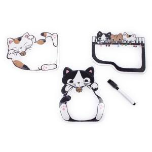 猫のメッセージボード ホワイトボード (マグネットシートタイプ)やまねこさん / 猫グッズ 猫雑貨