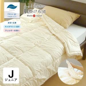 肌掛け布団 ジュニア 135×185 洗える日本製 ダクロン クォロフィル・アクア No.8|nekoronta