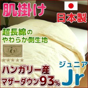 羽毛肌掛け布団 日本製 ジュニア ハンガリー産マザーダウン93% ロイヤルゴールド|nekoronta