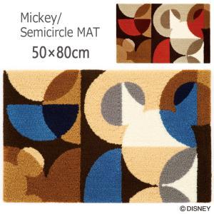 マット ディズニー 約50×80cm「ミッキー/セミサークル」 住之江(日本製)|nekoronta