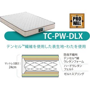 正規品 フランスベッド プロウォール マットレス TC-PW-DLX ダブルD(140×195×24cm)PRO・WALL エッジサポート 日本製 両面仕様 38873300|nekoronta|04