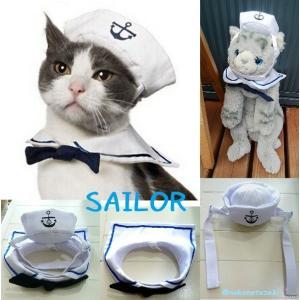 猫 コスチューム セーラーカラー&キャップ nekote-shop