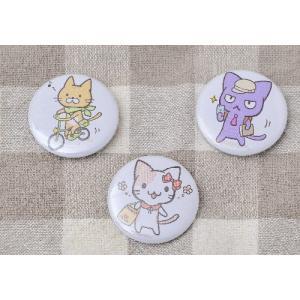 猫雑貨 猫デザイン オリジナル CAT MEETIG 缶バッジ|nekote-shop