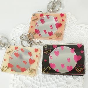猫雑貨 コンパクトミラー キャット&ハートミラー|nekote-shop