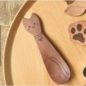 猫雑貨 どうぶつ柄のおやつスプーン ネコ|nekote-shop