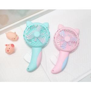 猫雑貨 ハンディ扇風機 猫耳つき 手動型 nekote-shop