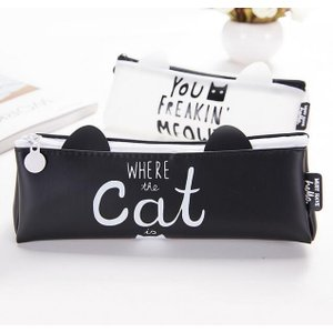 猫雑貨 猫デザイン 猫耳つきペンケース|nekote-shop