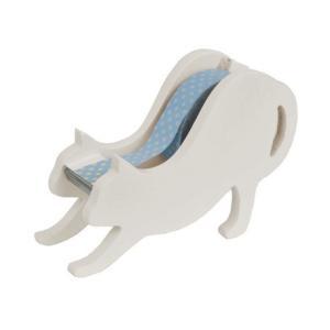 猫雑貨 文房具 白猫テープカッター|nekote-shop