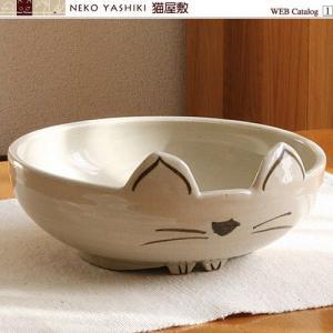 猫さん型 万能皿<白> nekoyashiki-shop