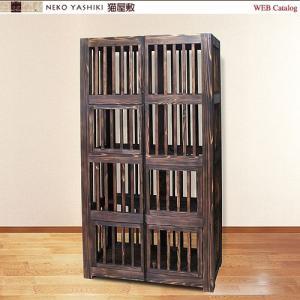 無垢材の4階建てケージ|nekoyashiki-shop
