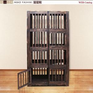 無垢材の4階建てケージ|nekoyashiki-shop|02