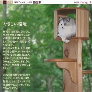 キャットツリーひぐらし 支柱1本 ハウス付きタイプ|nekoyashiki-shop|03