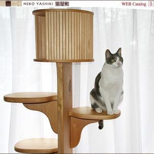 キャットツリーひぐらし 支柱1本 ハウス付きタイプ|nekoyashiki-shop|05