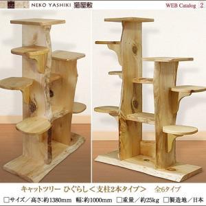 キャットツリーひぐらし 支柱2本タイプ|nekoyashiki-shop|02