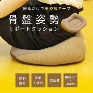 骨盤矯正 サポートクッション クッション  お尻 痛くない 美尻 座ぶとん 腰痛対策 骨盤クッション ブラウン D2471-36KS|nemunabi