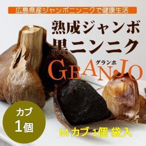 ジャンボにんにく 熟成 黒にんにく M球1個入袋 ニンニク 広島 三原市 黒GRANJO ドイグランホ|nemuriestore