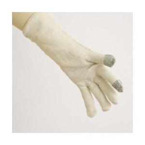 手袋 スマホ対応 スマホが使えるおやすみ シルク手袋|nemuriestore|02