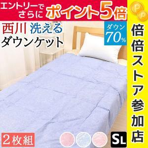 肌掛け布団 夏 ダウンケット シングル 西川 洗...の商品画像