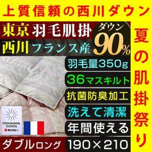 東京西川独自の西川ダウンを使用した肌掛け布団。 暖かさ、ふっくら感、耐久性が違う!  ダウンは暑いと...