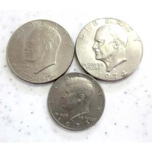 4511コイン アメリカ 1ドル(2枚) 50セント(1枚) UNITED STATES OF AM...