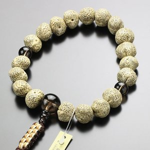 浄土真宗 数珠 男性用 原実 星月菩提樹 茶水晶 紐房 数珠袋付き|nenjyu