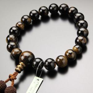 数珠 男性用 18玉 本海松 正絹房 数珠袋付き|nenjyu