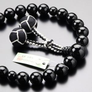 数珠 男性用 22玉 黒オニキス 小田巻梵天房 略式数珠|nenjyu