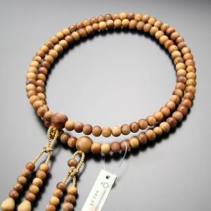 真言宗 数珠 男性用 尺二 白檀(インドネシア産) 梵天房 数珠袋付き|nenjyu