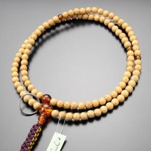 数珠 男性用 曹洞宗 尺二 天竺菩提樹 琥珀 本銀輪 紐房 数珠袋付き|nenjyu