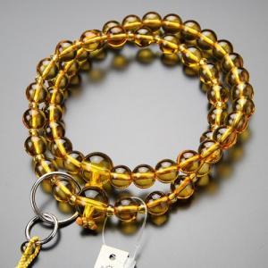浄土宗 数珠 男性用 三万浄土 黄水晶 梵天房 数珠袋付き|nenjyu