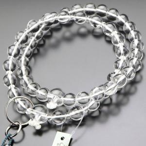 浄土宗 数珠 男性用 三万浄土 本水晶 梵天房 数珠袋付き|nenjyu