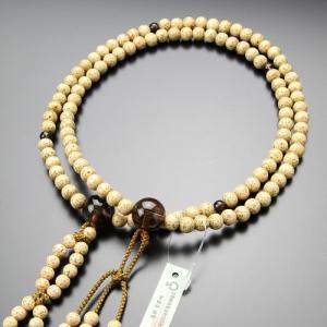 日蓮宗 数珠 男性用 尺二 星月菩提樹 茶水晶 梵天房 数珠袋付き|nenjyu