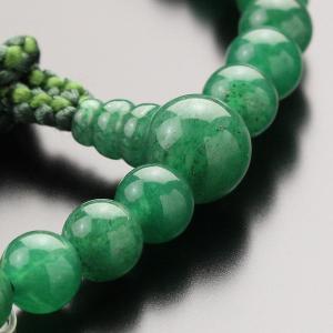数珠 女性用 約7ミリ 印度翡翠 2色梵天房 ...の詳細画像1