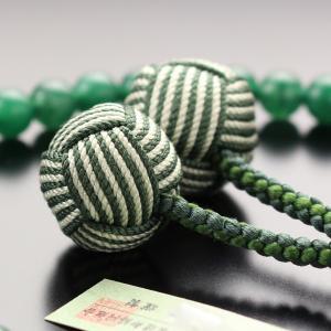 数珠 女性用 約7ミリ 印度翡翠 2色梵天房 ...の詳細画像4