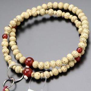 浄土宗 数珠 女性用 8寸 粒撰 星月菩提樹 瑪瑙 梵天房 数珠袋付き nenjyu